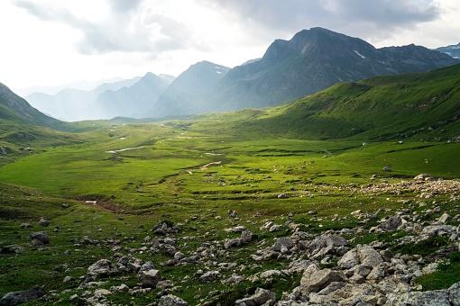 Beautiful landscape scenery in swiss alps