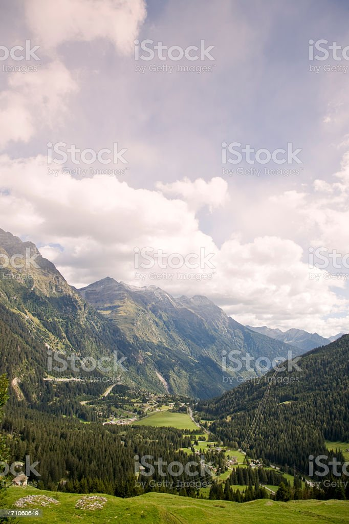 Beautiful Swiss Alps royalty-free stock photo