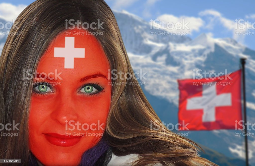 Wunderschöne Schweizer Frauen-fan – Foto