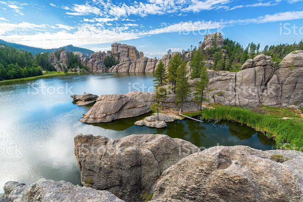 Beautiful Sylvan Lake stock photo