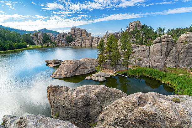 Beautiful Sylvan Lake stock photo