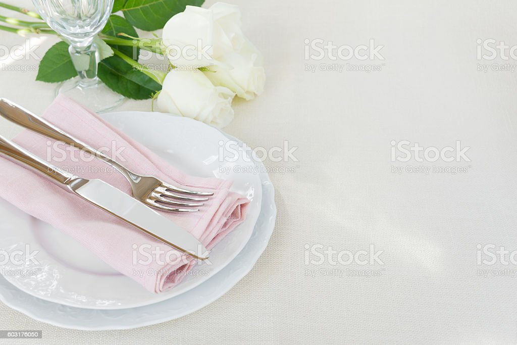 Beautiful table appointments stock photo