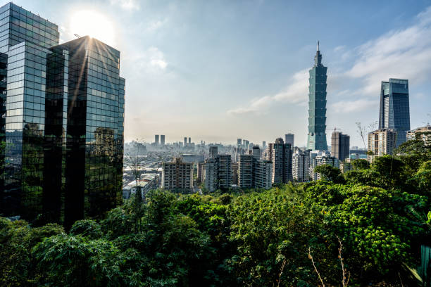 Beautiful Taipei, Taiwan stock photo