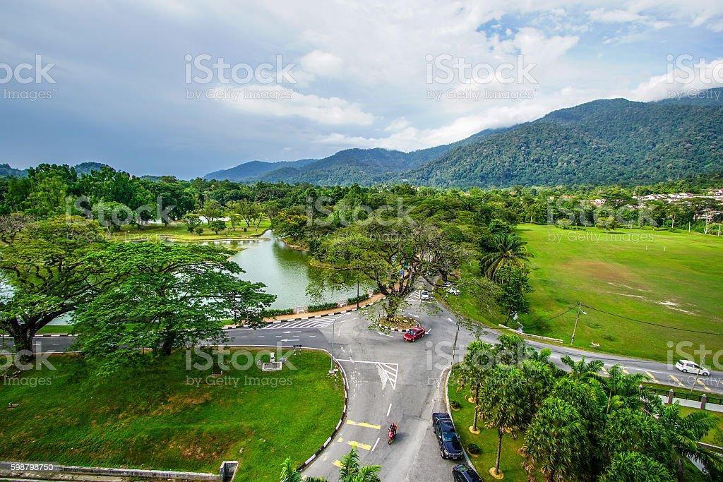 Beautiful Taiping Lake Gardens stock photo