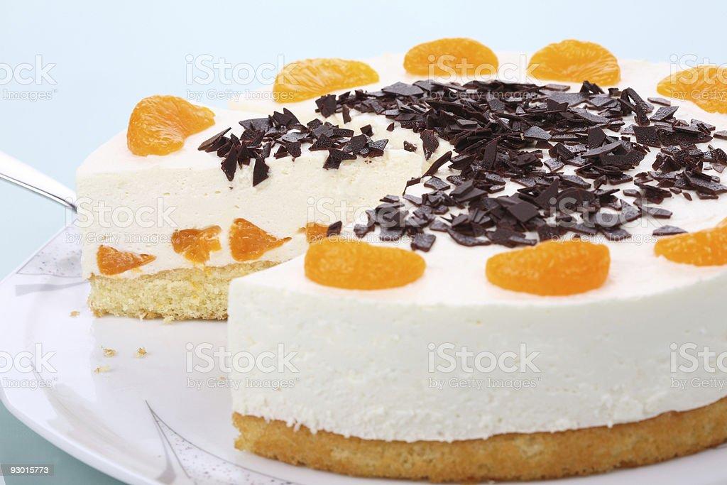 Beautiful Tangerine Cake stock photo