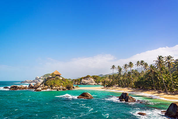 Beautiful Tayrona Beach stock photo