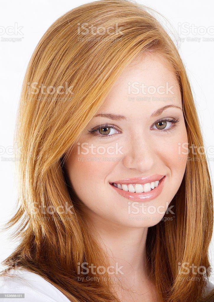 beautiful teen girl headshot royalty-free stock photo
