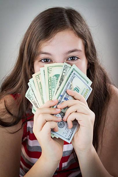 Teen strips for money