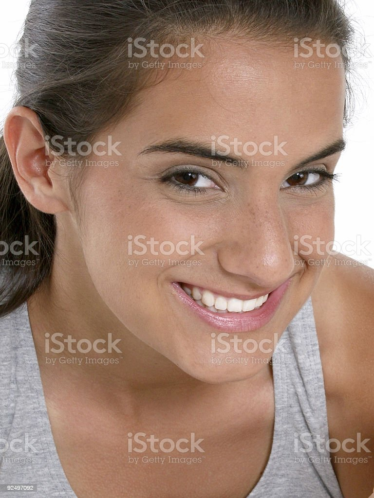 Beautiful Teen Girl In Workout Clothes royalty-free stock photo