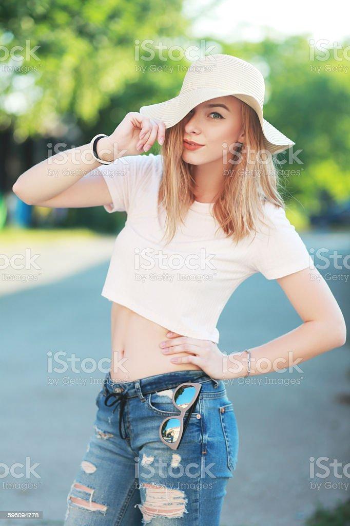 beautiful teen girl royalty-free stock photo