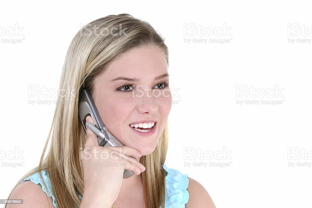 Beautiful Teen Girl With Cellphone royalty-free stock photo