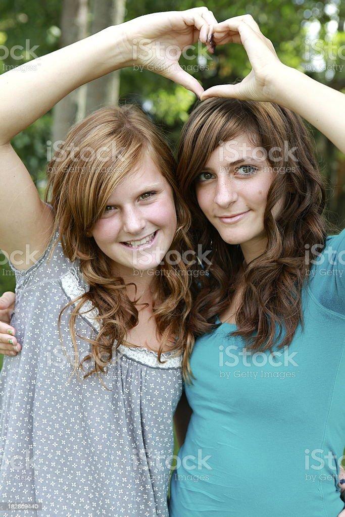 Beautiful Teen Girls royalty-free stock photo