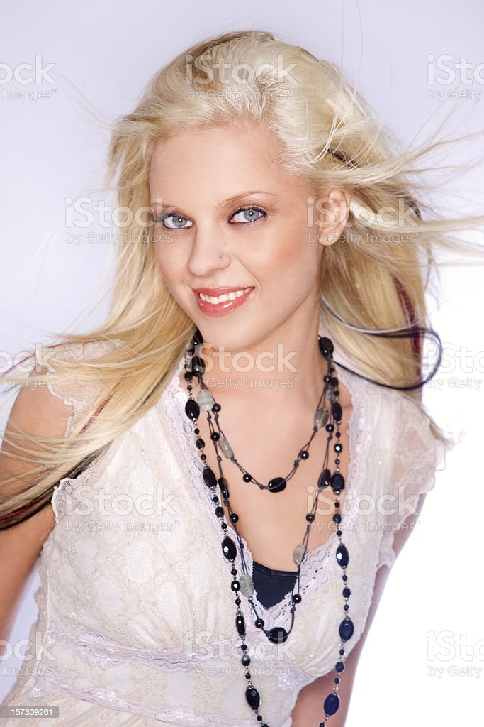 Beautiful Teenage Fashion Model, Blond with Highlights royalty-free stock photo