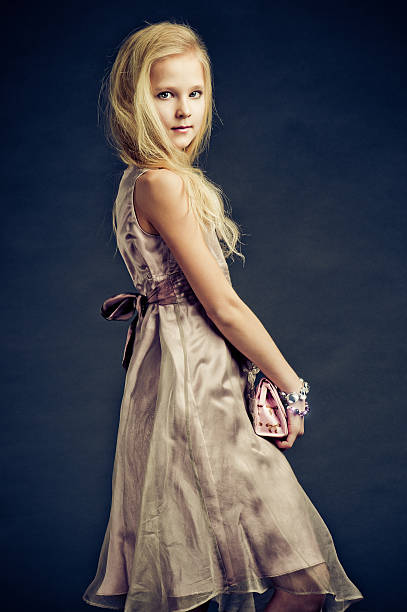 beautiful teenage fashion model - tween models stock photos and pictures