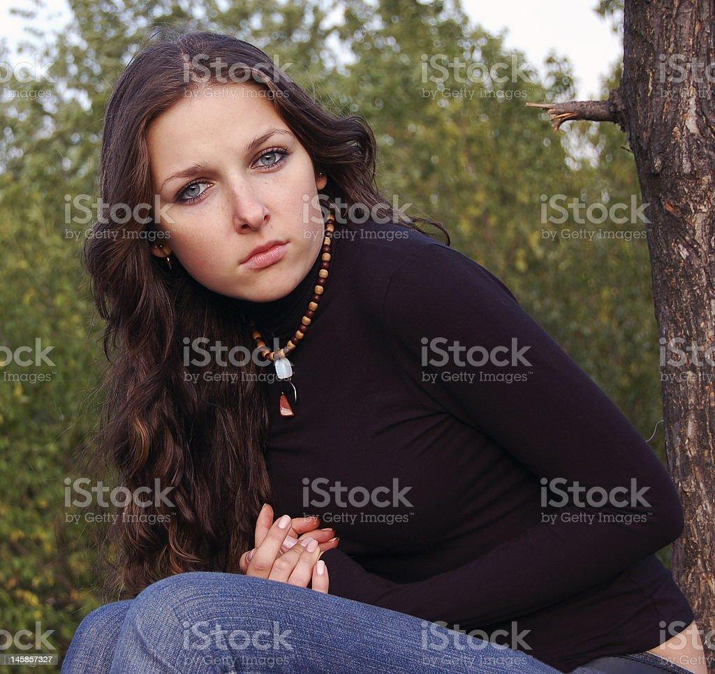 Beautiful teenage girl royalty-free stock photo
