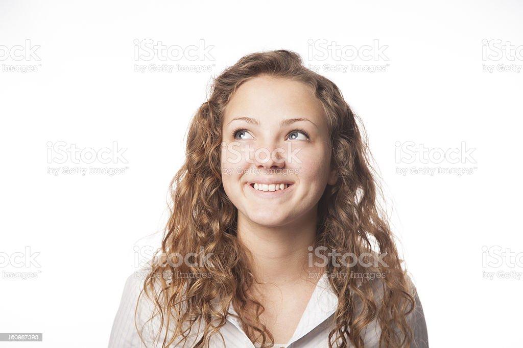 Beautiful Teenage Girl Smiles royalty-free stock photo