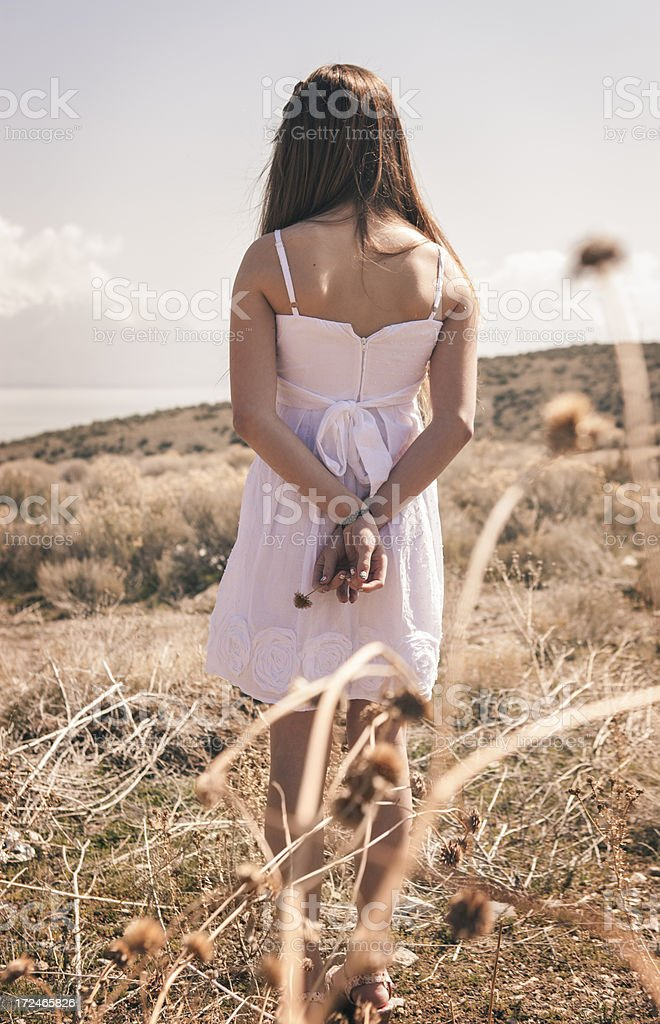 Beautiful Teenager in the Desert royalty-free stock photo