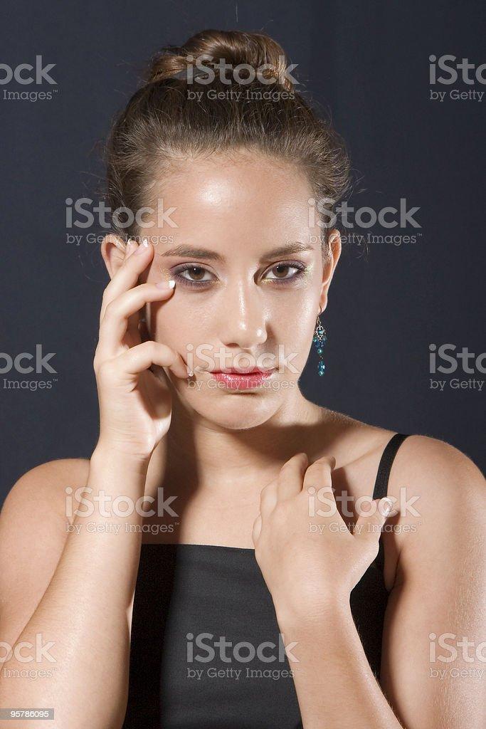 Beautiful teenager portrait royalty-free stock photo