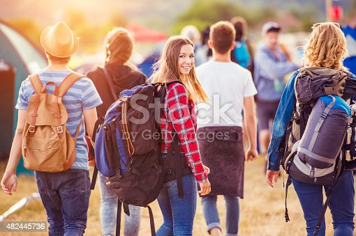 istock Beautiful teens at summer festival 482445736