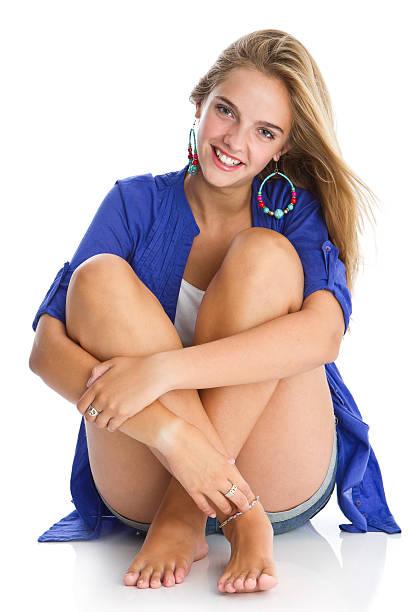 beautiful teen's portrait - tween models stock photos and pictures