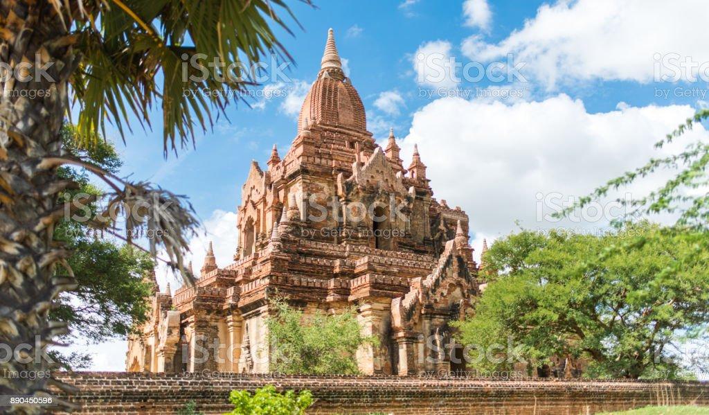 Beautiful temple in Bagan Myanmar stock photo