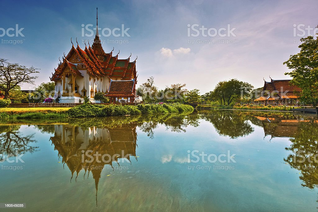 Beautiful Temple in Bangkok stock photo