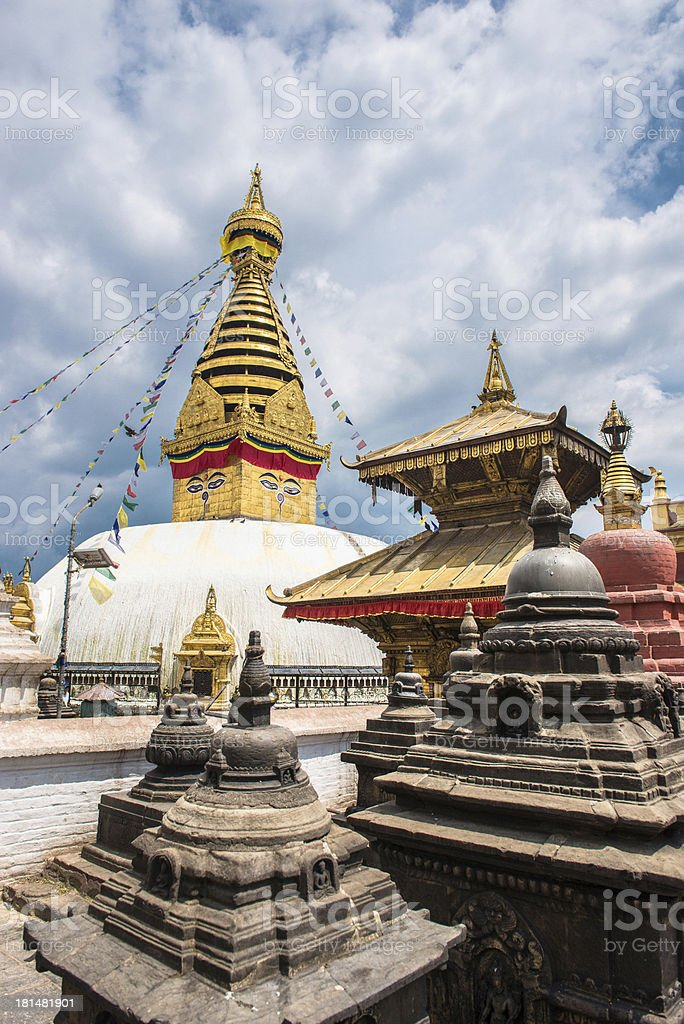 Beautiful temple in Nepal royalty-free stock photo