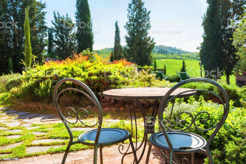 Hermosa Terraza De La Casa De Campo Foto De Stock Y Más