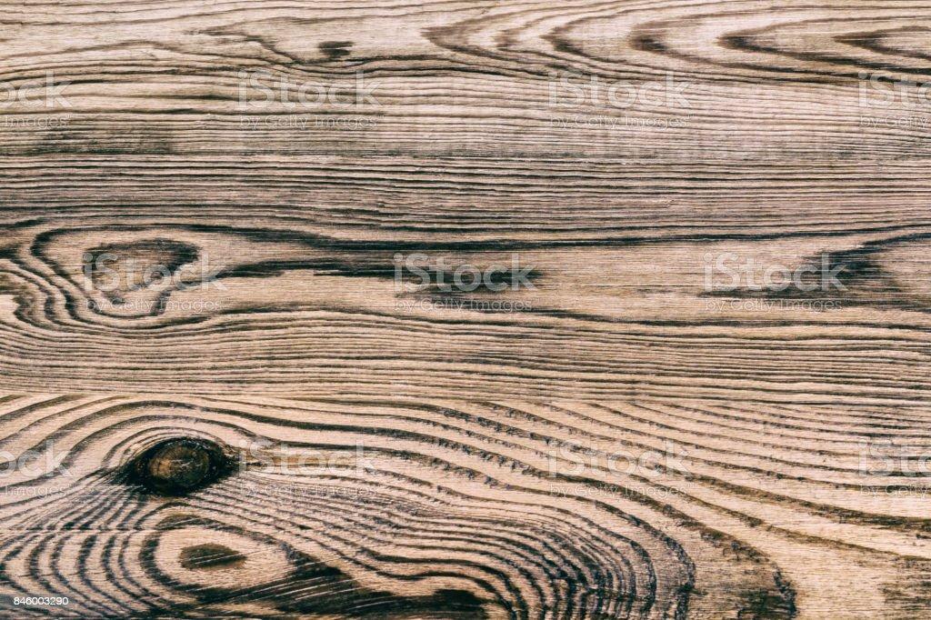 Hermosa textura de madera vieja resistido con anillos anuales y nudos - foto de stock