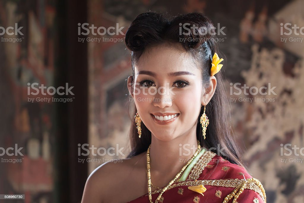 Beautiful Thai Girl In Traditional Costume Royalty Free Stock Photo