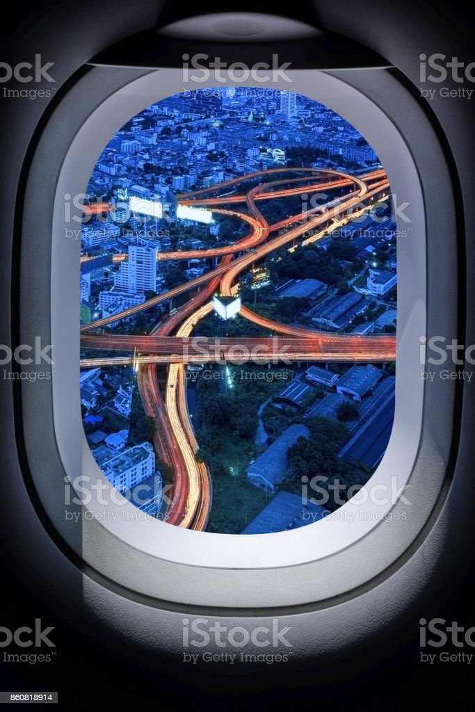 Beautiful Thailand cityscape from aircraft window Beautiful Thailand cityscape from aircraft window stock photo