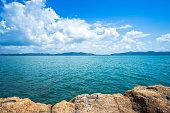 Beautiful the sea at Hat chao lao beach in Chanthaburi, Thailand.