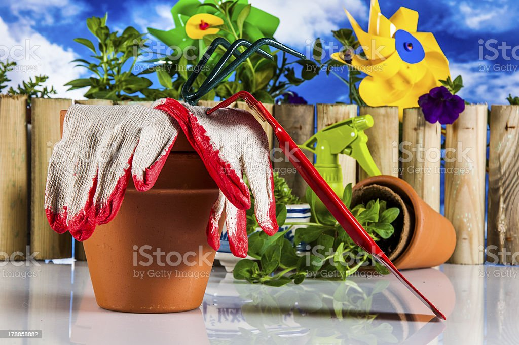 Beautiful theme of garden, vivid colors, bright background royalty-free stock photo
