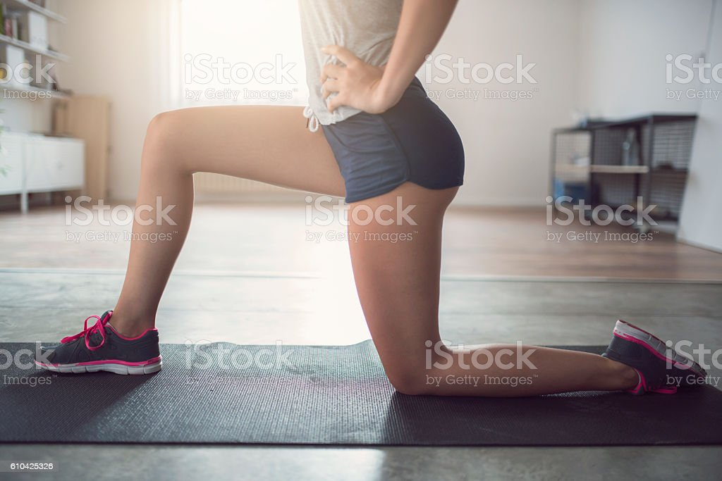 Beautiful thighs stock photo
