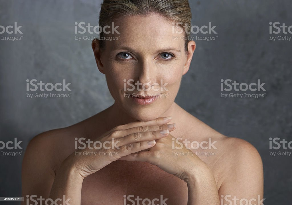 Beautiful throughout her years stock photo