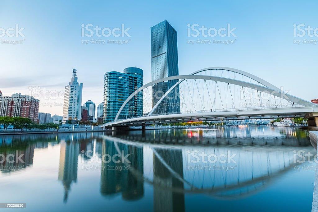Wunderschöne tianjin über die dagu-Brücke – Foto