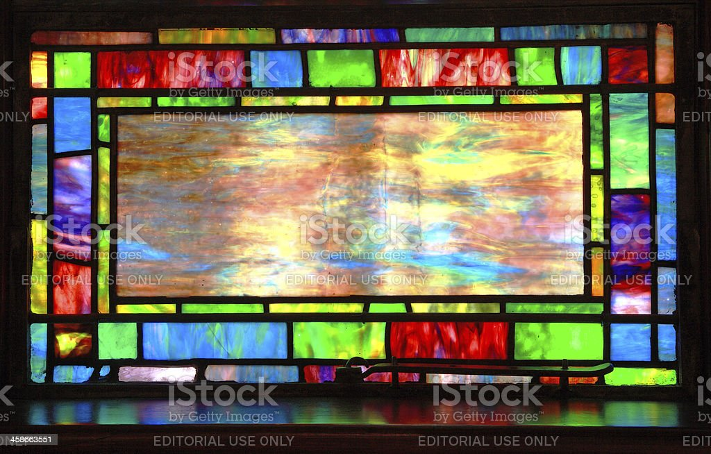 Beautiful Tiffany Stained Glass Window stock photo