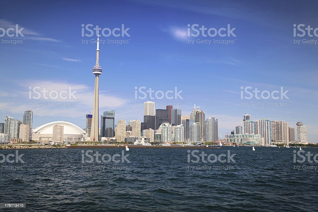 Beautiful Toronto City in summer royalty-free stock photo