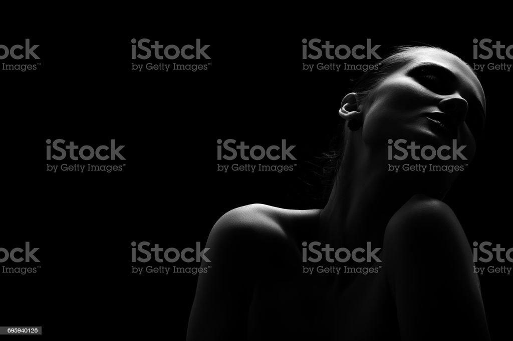 beautiful totpless woman стоковое фото