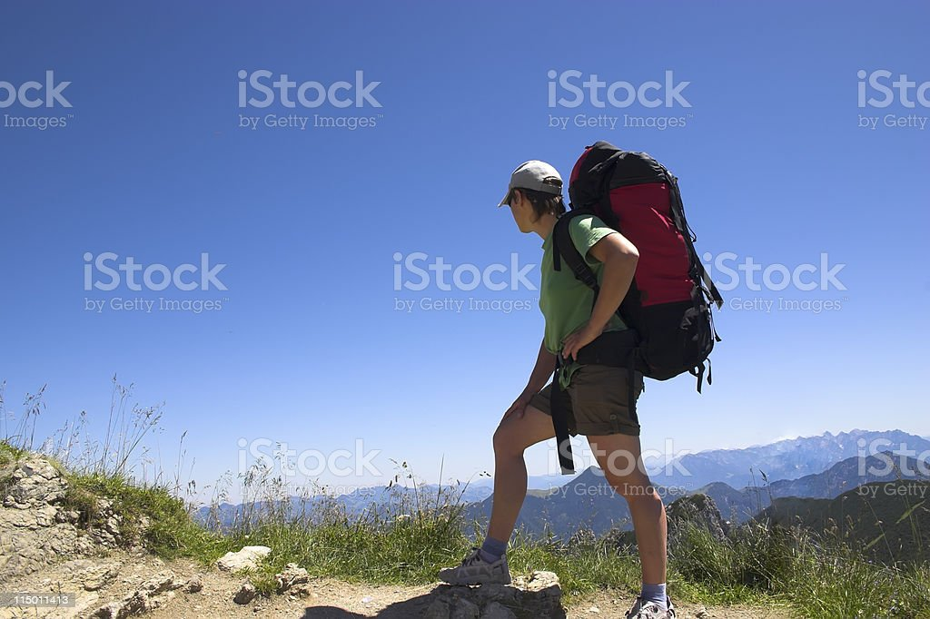 beautiful tourist woman looking ahead, Alps, Germany royalty-free stock photo
