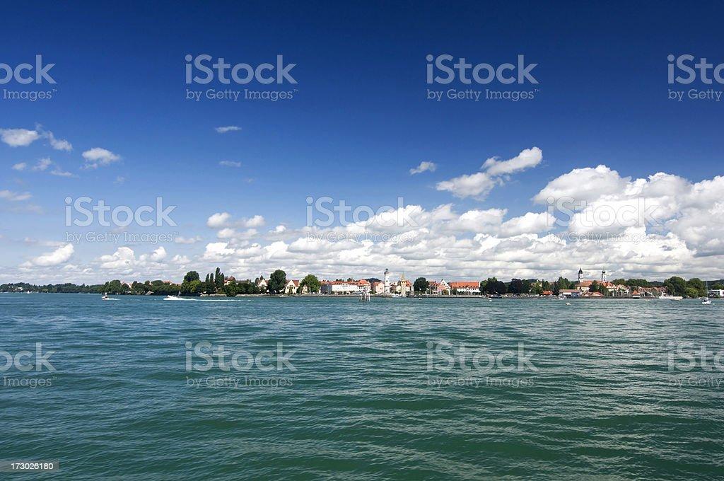 Beautiful Town at a Lake royalty-free stock photo