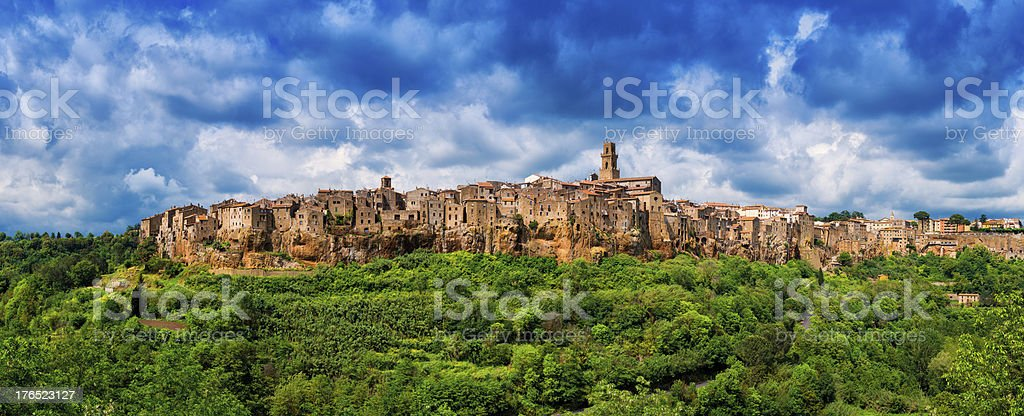 Beautiful town in Tuscany, Pitigliano. Province of Grosseto. royalty-free stock photo