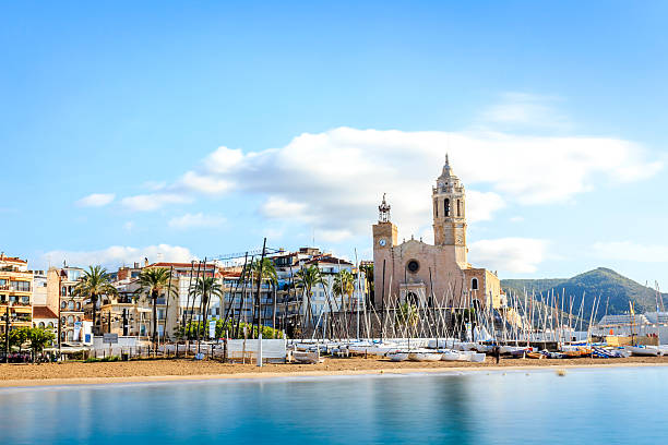 Beautiful town of Sitges, Catalonia, Spain – Foto
