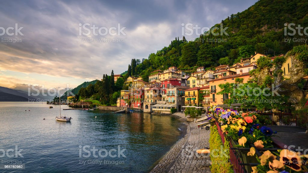 Beautiful town of Varenna, Lake Como, Italy royalty-free stock photo
