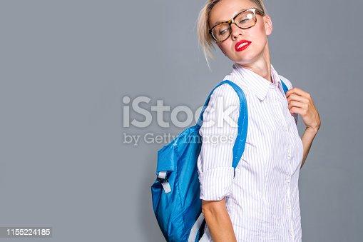 618976144 istock photo Beautiful traveler, business, education woman 1155224185