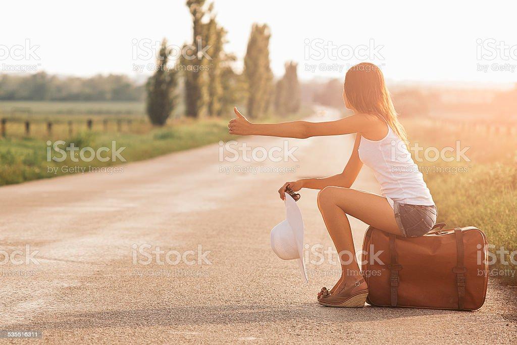 Wunderschöne Reisende Mädchen – Foto
