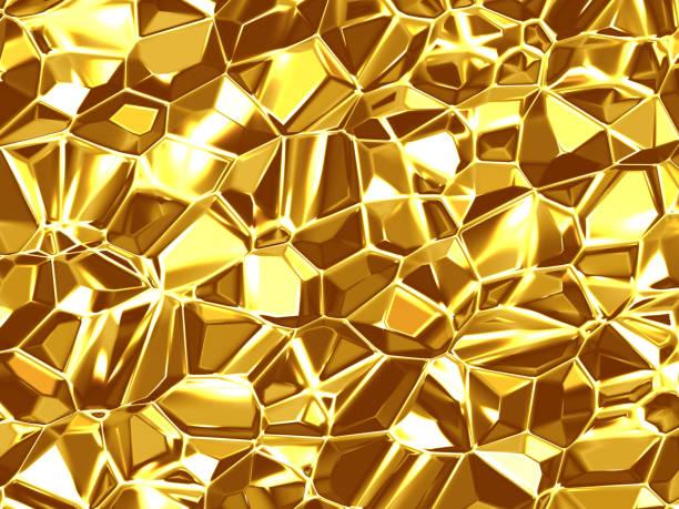 Beautiful triangular golden background stock photo