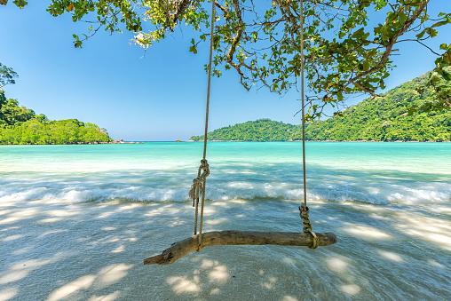 Beautiful tropical beach at Surin Island , Thailand