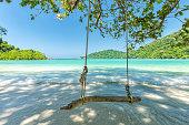 istock Beautiful tropical beach at Surin Island , Thailand 507757478