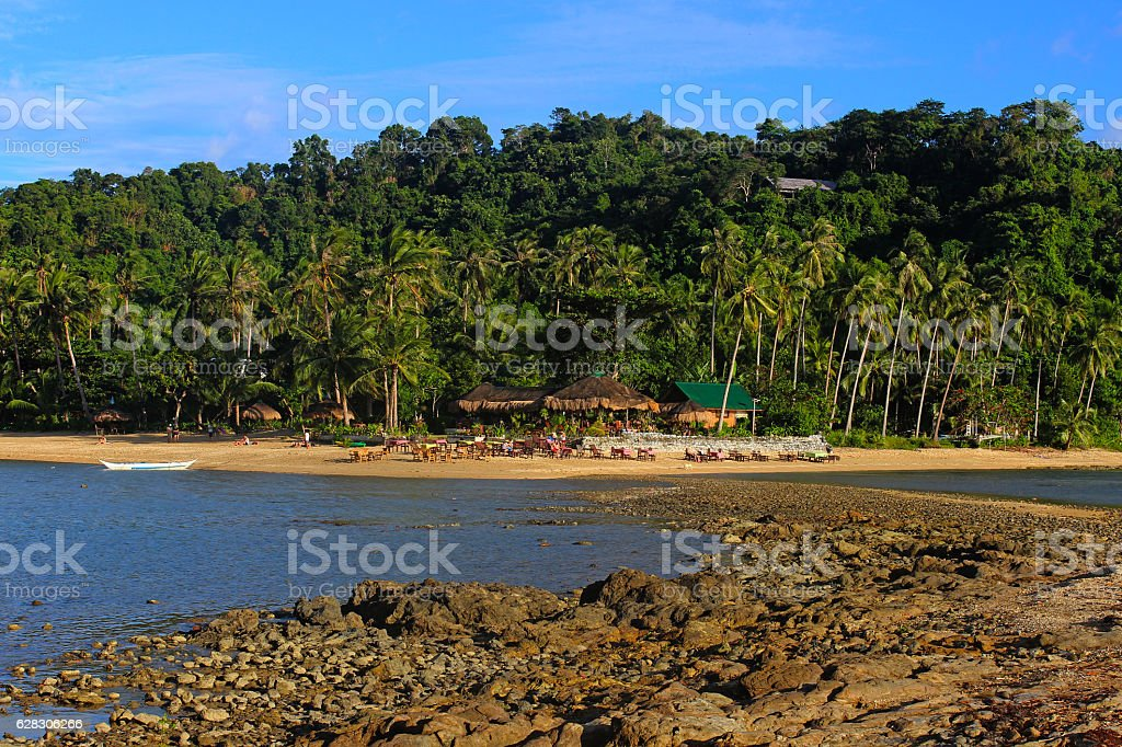beautiful tropical beach - El Nido, Philippines stock photo